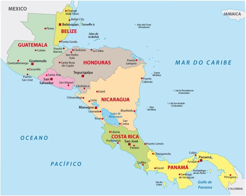 ... da america central mapa ...