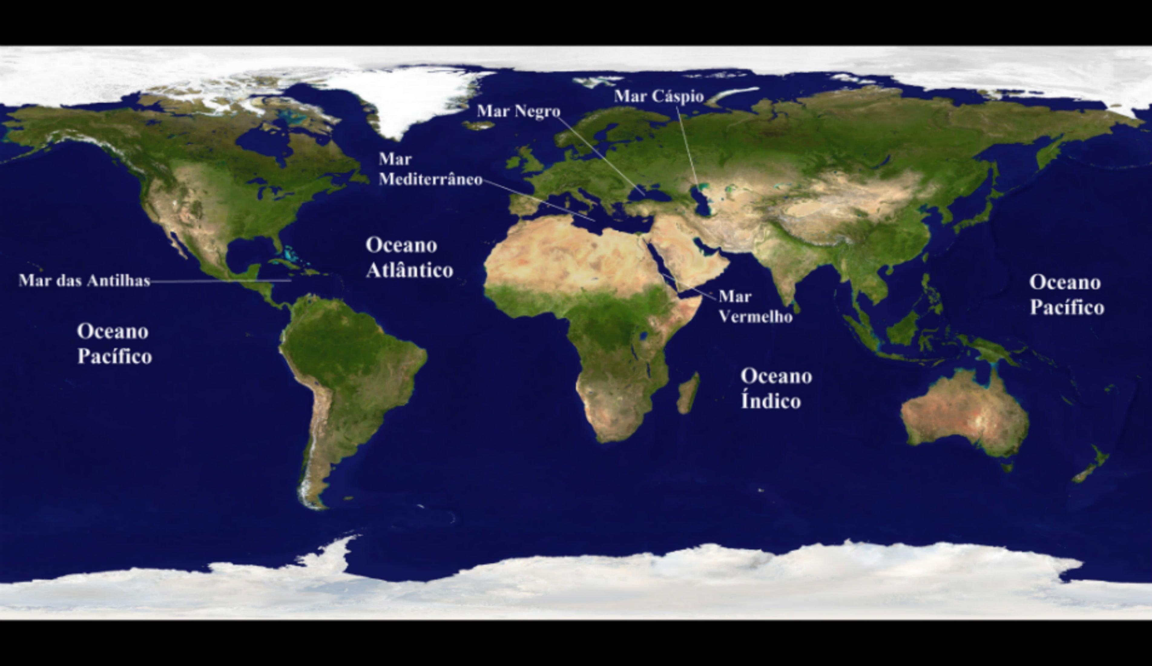 Mares e Oceanos do Mundo  Toda Matria