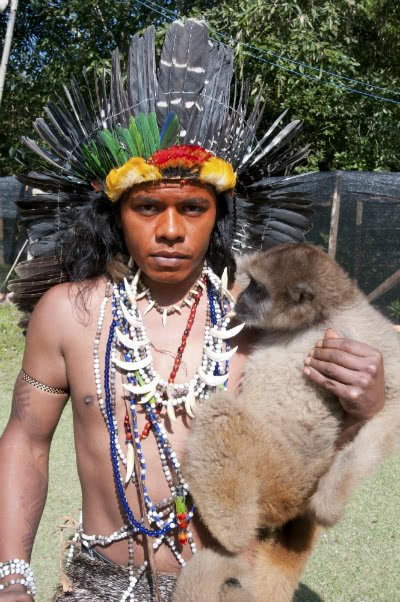 Índio tupi-guarani da aldeia do Bananal. Foto: Funai