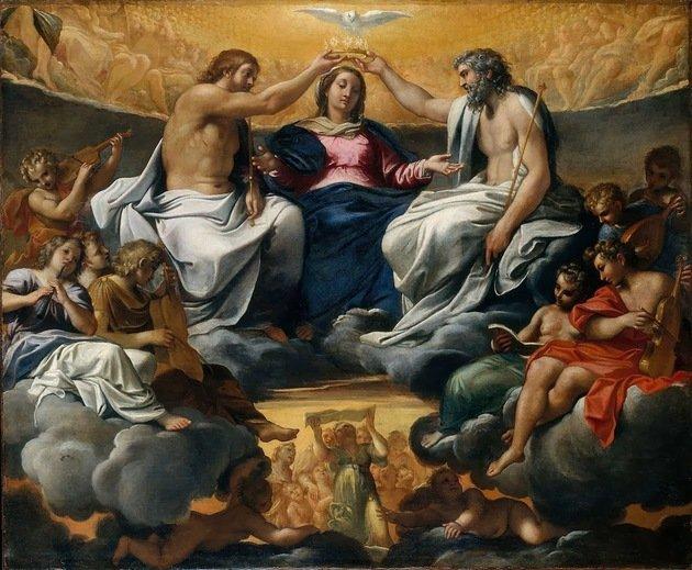 A Coroação da Virgem, de Carraci