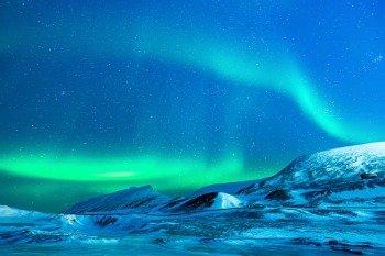 Imagem do fenômeno da Aurora Boreal