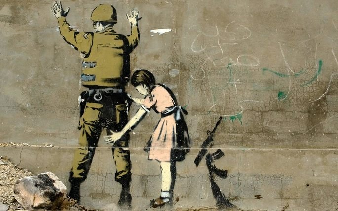 Banksy - Girl Searching Soldier