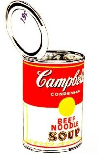 O famoso quadro Campbell's Soup Can - Beef, 1965