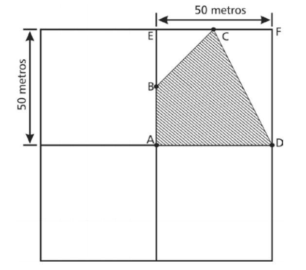 Questão Cefet-mg 2016 área de figuras planas
