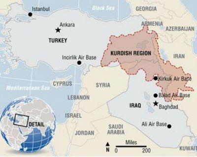 Mapa do Curdistão