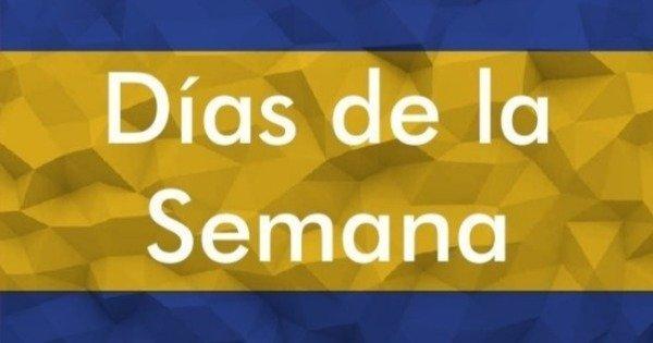 Dias Da Semana Em Espanhol Días De La Semana Toda Matéria