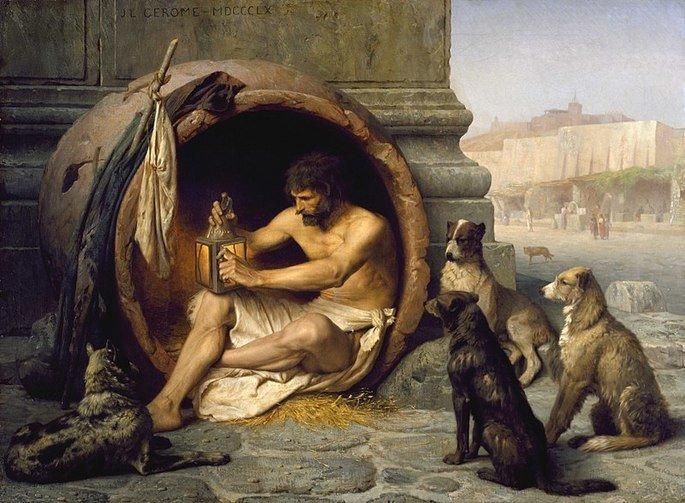 Diógenes e os cães