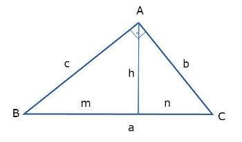 Elementos de um triângulo retângulo