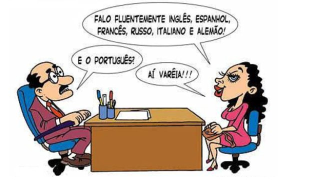 Charge linguagem formal e informal