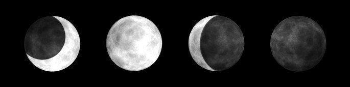 Fases da lua no hemisfério sul