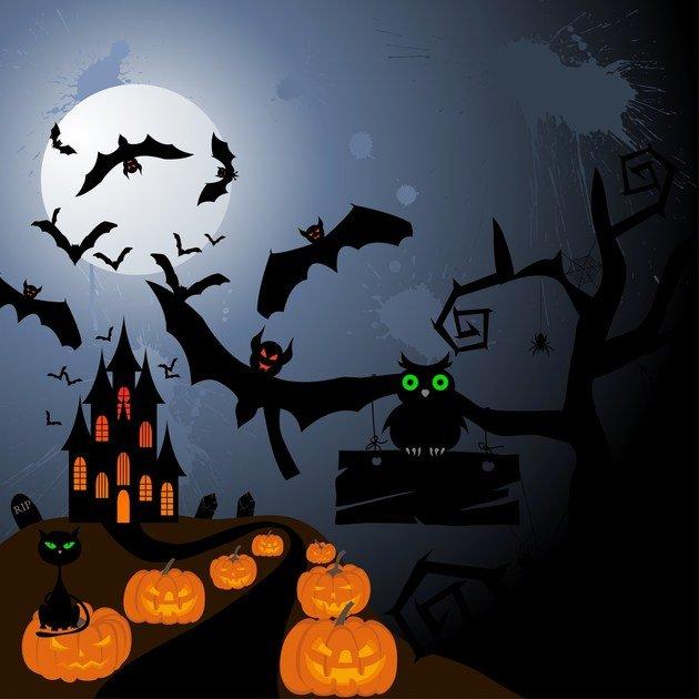 Cenário de Halloween