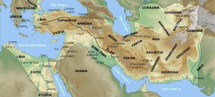 mapa do império persa