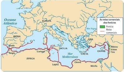 Mapa da Fenícia