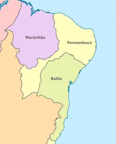 Tamanho da Capitania de Pernambuco