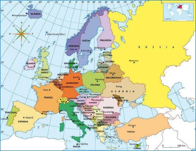 Mapa Fisico Mudo Rios De Europa Para Imprimir.Mapa Da Europa Toda Materia