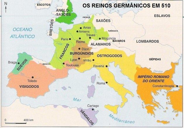 Povos germânicos mapa