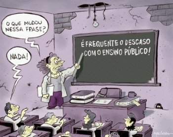 Charge de professora lecionando