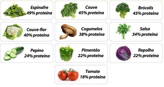Alimentos vegetais e proteínas