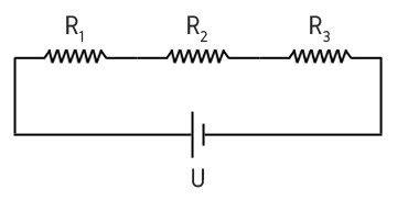 Esquema de associação de resistores em série